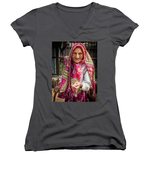 Old Woman Women's V-Neck