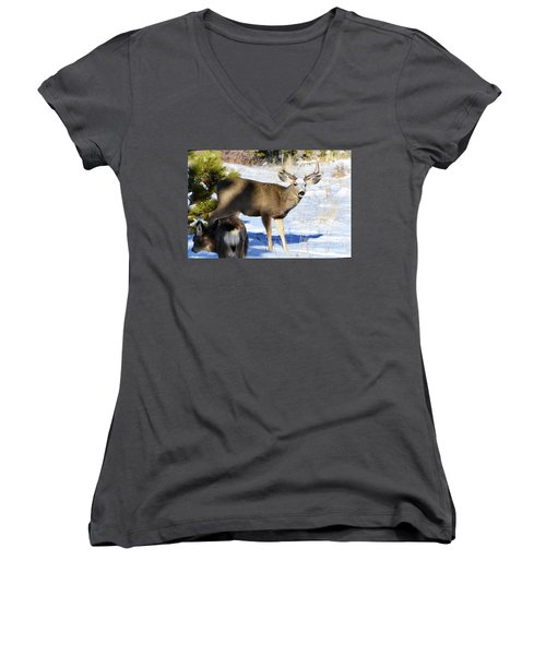 Out Of The Shadows Women's V-Neck