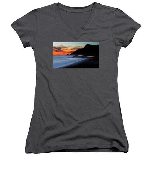 Pacific Coast Highway Women's V-Neck (Athletic Fit)
