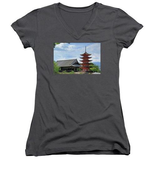 Pagoda - Mayijima, Japan Women's V-Neck