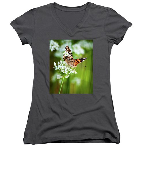 Painted Lady II Women's V-Neck