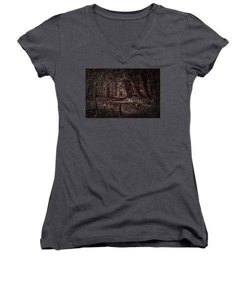 Path In Forest #i0 Women's V-Neck