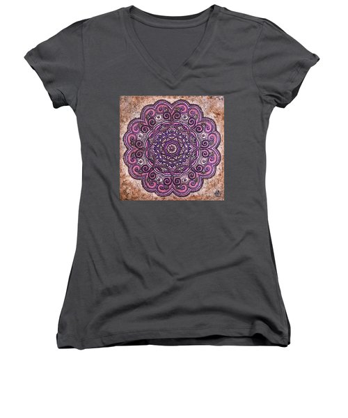 Pink Mandala Women's V-Neck