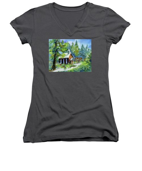 Pioneer Union Church Women's V-Neck