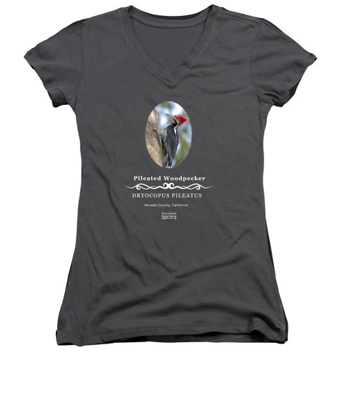 Pleated Woodpecker Women's V-Neck