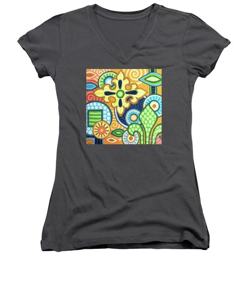 Pop Botanical 1 Women's V-Neck