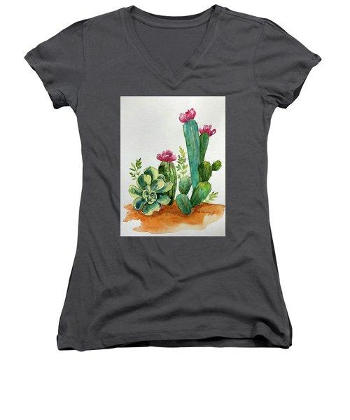 Prickly Cactus Women's V-Neck
