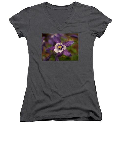 Purple Columbine Women's V-Neck