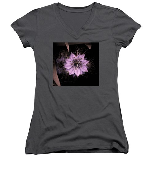 Purple Peculiarity Women's V-Neck