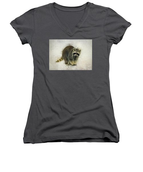 Raccoon Women's V-Neck