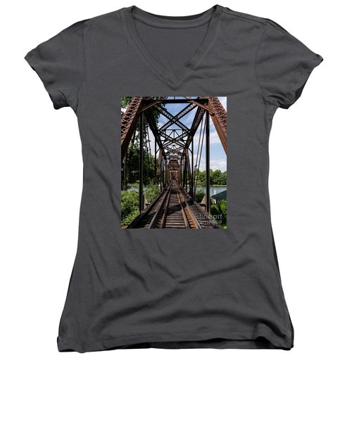 Railroad Bridge 6th Street Augusta Ga 1 Women's V-Neck