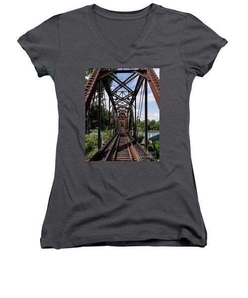 Railroad Bridge 6th Street Augusta Ga 1 Women's V-Neck