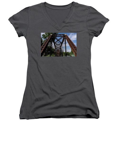 Railroad Bridge 6th Street Augusta Ga 2 Women's V-Neck
