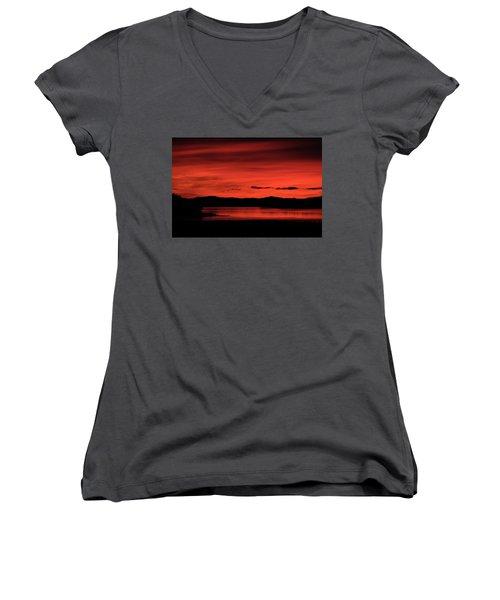 Red Sunset Women's V-Neck