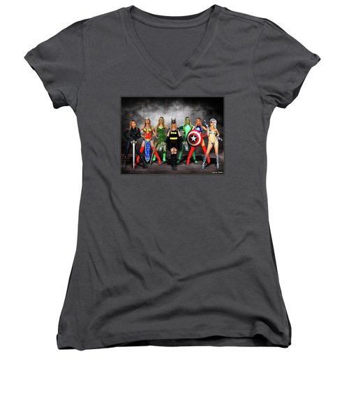 Reflections Of A Hero Women's V-Neck