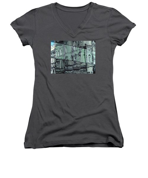 Reflection On Modern Architecture Women's V-Neck