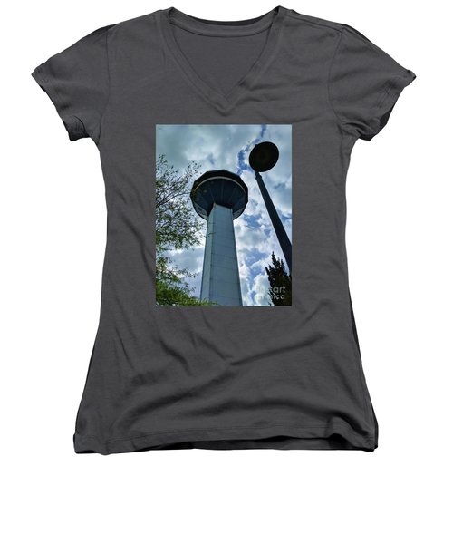Restaurant In The Clouds Women's V-Neck
