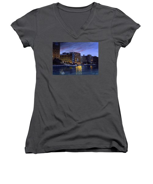 Riverwalk Nocturne Women's V-Neck