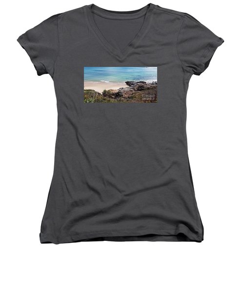 Rocks Sand And Water  Women's V-Neck