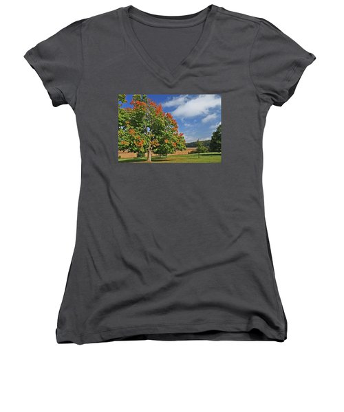Rolling Farmland Women's V-Neck
