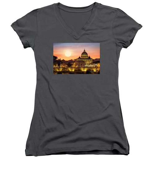 Roman Sunset Women's V-Neck
