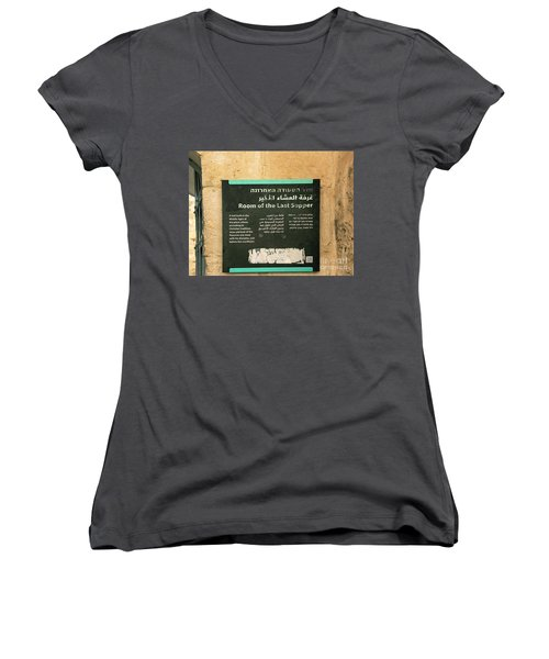 Women's V-Neck featuring the photograph Room Of The Last Supper by Mae Wertz