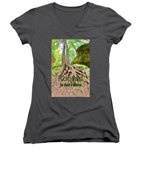 Rooted In God's Word Women's V-Neck