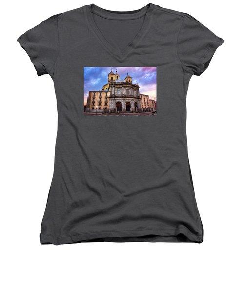 Royal Basilica Of San Francisco El Grande Women's V-Neck