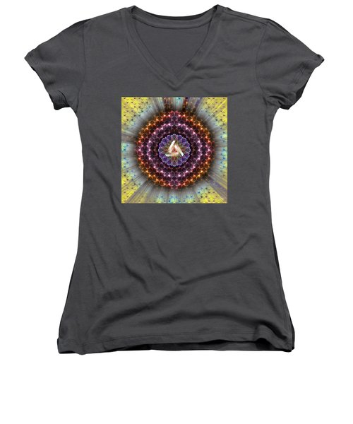 Sacred Geometry 742 Women's V-Neck