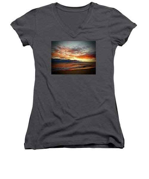 Early Autumn Morning Women's V-Neck (Athletic Fit)