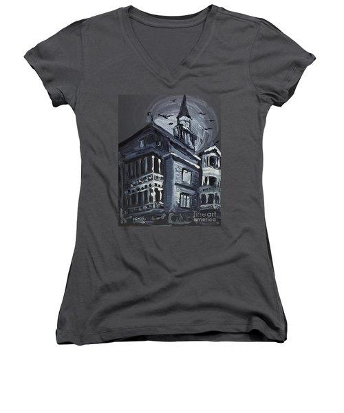 Scary Old House Women's V-Neck