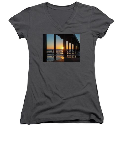 Scripps Pier Women's V-Neck (Athletic Fit)