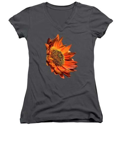 Selective Color Sunflower Women's V-Neck (Athletic Fit)