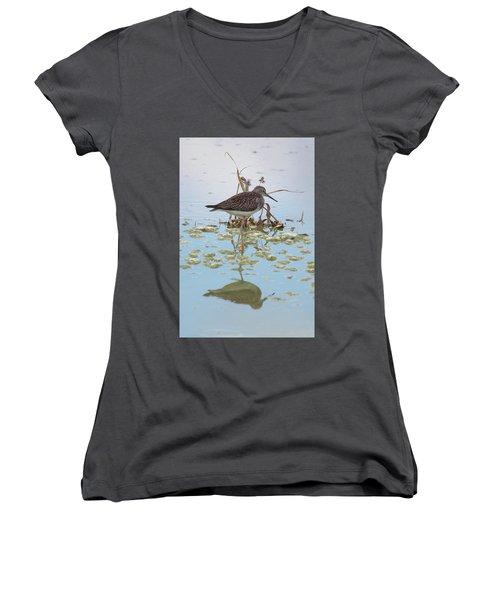 Shorebird Reflection Women's V-Neck