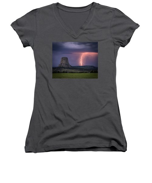 Showers And Lightning Women's V-Neck