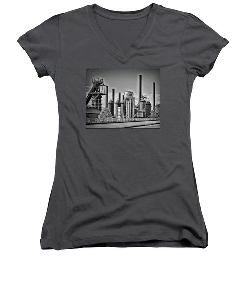 Sloss Furnaces Towers Women's V-Neck