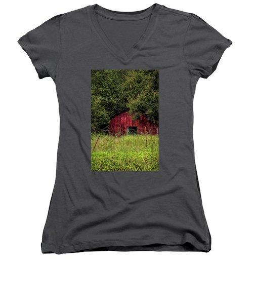 Small Barn 2 Women's V-Neck (Athletic Fit)