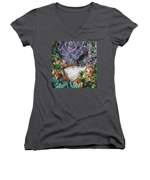 Small Succulent Garden Women's V-Neck