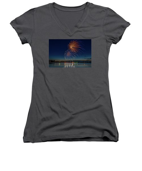 Small Town 4th Women's V-Neck
