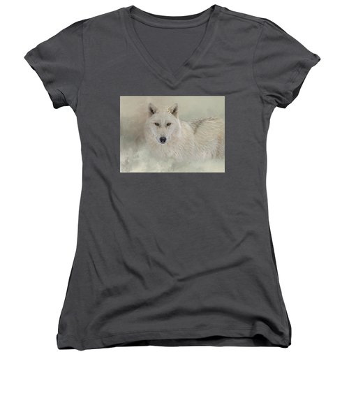 Snow Wolf Women's V-Neck