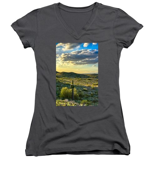 Sonoran Desert Portrait Women's V-Neck