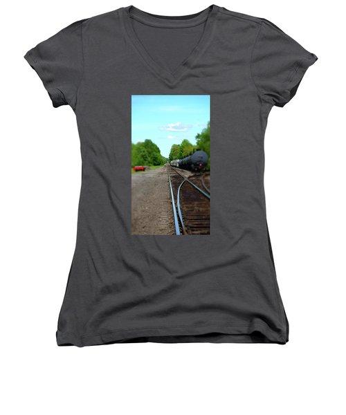 Split Rail Women's V-Neck