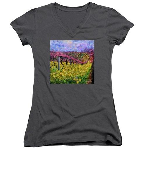Spring Vineyard Women's V-Neck