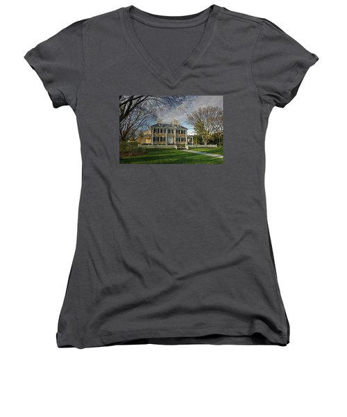 Springtime At Longfellow House Women's V-Neck