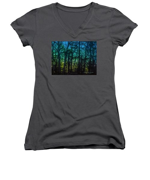 Stained Glass Dawn Women's V-Neck