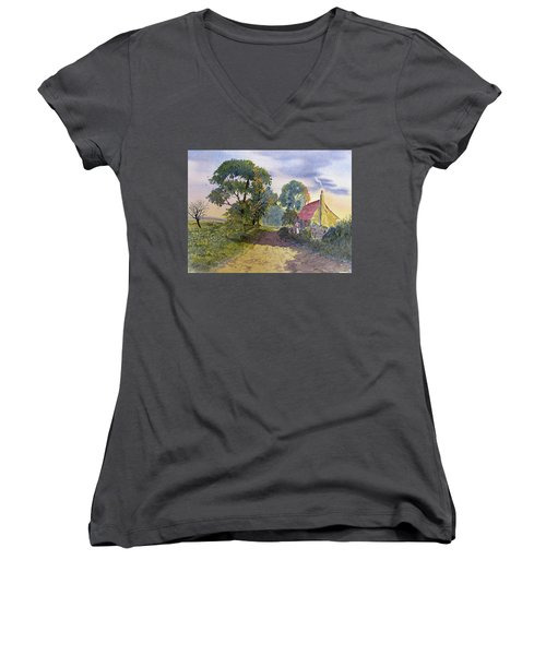 Standing In The Shadows Women's V-Neck