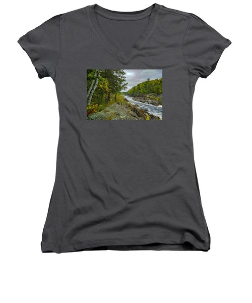 Storm Clouds At Jay Cooke Women's V-Neck