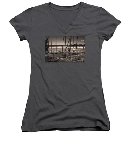 Women's V-Neck featuring the photograph Sulfur Field by Mae Wertz