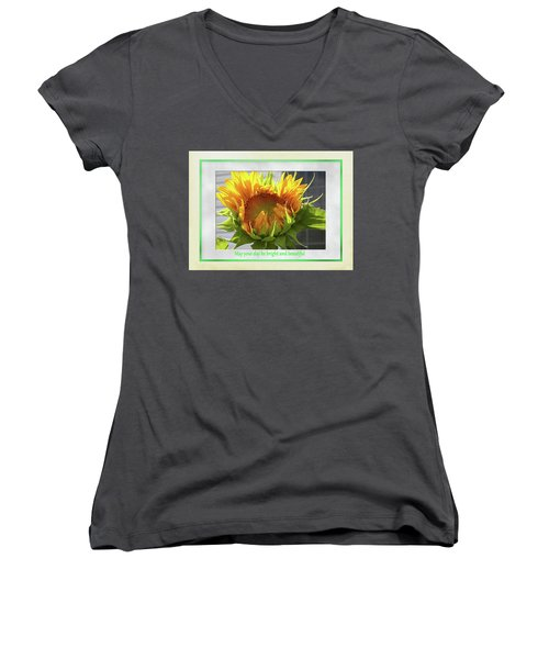 Sunflower Birthday Women's V-Neck