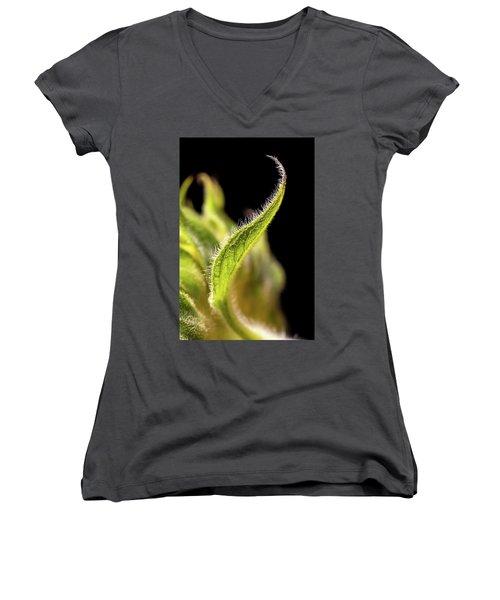 Sunflower Leaf Women's V-Neck